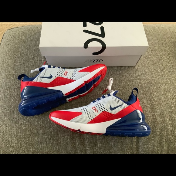 Air Max 270 USA RED WHITE BLUE New With Box Sz 9